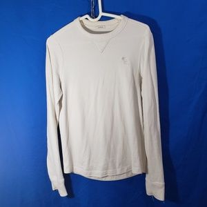 Abercrombie & Fitch Men's Muscle White Top Sz M